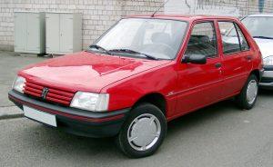 Autopotahy Peugeot 205