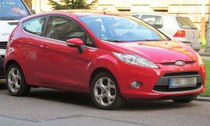 Fiesta 3 door červená