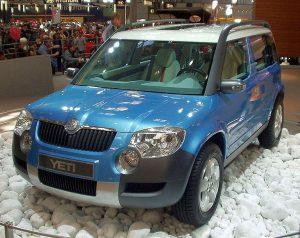 Autopotahy Škoda Yeti