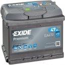 Exide Premium 12V 47Ah 450A
